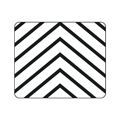 OTM Prints Black Mouse Pad, Arrows White