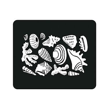 OTM Prints Black Mouse Pad, Shell Collection Black & White