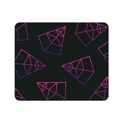 OTM Prints Black Mouse Pad, Pyramids Pink & Purple