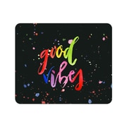 OTM Prints Black Mouse Pad, Good Vibes Splatter