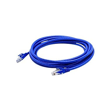 AddOn® ADD-10FCAT6A-BLUE 10' Blue Cat6A Molded Snagless Patch Cable