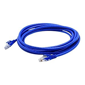 AddOn® ADD-7FCAT6A-BLUE 7' Blue Cat6A Molded Snagless Patch Cable