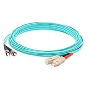 AddOn® ADD-ST-SC-3M5OM3 3 m LOMM Duplex ST/SC Patch Cable, Aqua