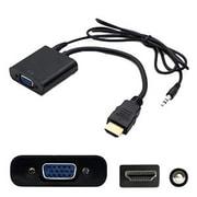"""AddOn® HDMI2VGAA-5PK 8"""" HDMI 1.3 to VGA Male/Female Audio/Video Cable, Black"""