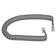 Black Box® EJ302-0012 12' Modular Coiled Handset Cord for All Phones, Dark Gray