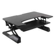 "Ergotech® Freedom Desk™ 36"" Height Adjustable Standing Table Desk, Black"