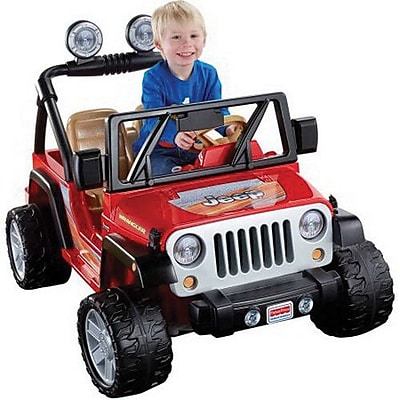 Fisher-Price Power Wheels Jeep Wrangler Vehicle, Red/Black,