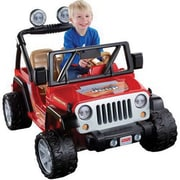 Fisher-Price® Power Wheels® Jeep™ Wrangler Vehicle, Red/Black, 3 - 8 Years (BCK85)