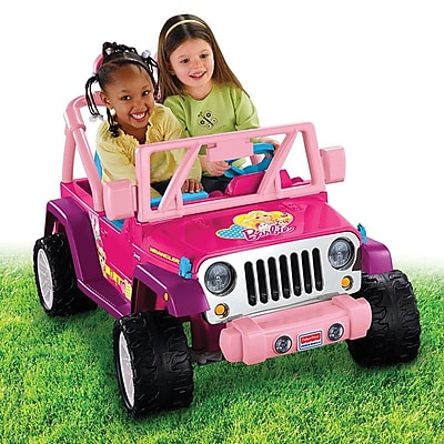 Fisher-Price Power Wheels Barbie Jammin'Jeep Wrangler Vehicle,