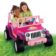 Fisher-Price® Power Wheels® Barbie™ Jammin'Jeep® Wrangler Vehicle, Pink, 3 Years and Up (CBF64)