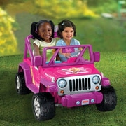 Fisher-Price® Power Wheels® Barbie™ Deluxe Jeep® Wrangler Vehicle, Pink, 3 Years and Up (CHP65)