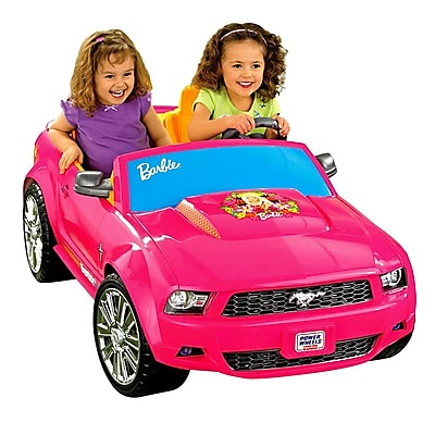 Fisher-Price Power Wheels Barbie Ford Mustang Car,