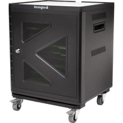 Kensington® K64414AM Charge and Sync Cabinet with Trolley for Ten Tablets, Black