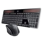 Logitech® Wireless Solar Keyboard and Laser Marathon Mouse Combo, Black (MK750)