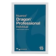 Nuance Dragon Professional Individual Academic Version 15 Speech Recognition Software, Windows (K809A-F00-15.0)