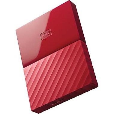 WD® My Passport WDBYNN0010BRD-WESN 1TB USB 3.0 External Hard Drive, Red