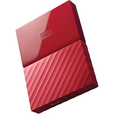 WD® My Passport WDBYNN0010BRD-WESN 1TB USB 3.0 External Hard Drive, Red