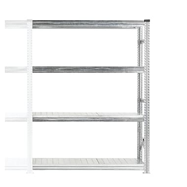 Metalsistem - Unité d'étagère supplémentaire 4 niveaux, 45 lb, gris