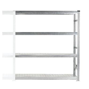 Metalsistem 4 Level Add-On Shelving Unit, Grey