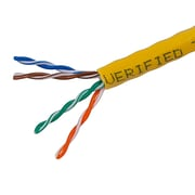TygerWire CAT5511000Y 1000 ft. Cat5e FT4 Network Cable, Yellow
