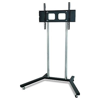 TygerClaw Mobile TV Stand With Free-Moving Wheels And Brake (LCD8007BLK)
