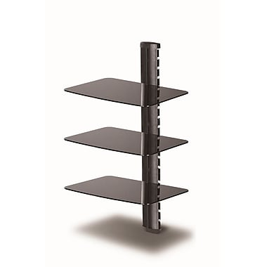 TygerClaw Three Layer Shelf DVD Rack (LCD8215BLK)