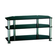 TygerClaw 3 Layers TV Stand With 3 Black Glasses 8 in. White (LCD8405)