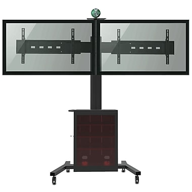 TygerClaw 2 TV Mobile Stand With 360 deg Rotation (LVW8602)