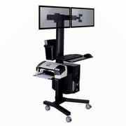 TygerClaw PC Mobile Cart With 2 Monitors (LVW8606)