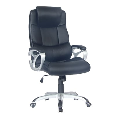 TygerClaw Executive High Back Leather Office Chair with Headrest (TYFC2102)