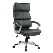 TygerClaw Modern High Back Leather Office Chair  White (TYFC2208)