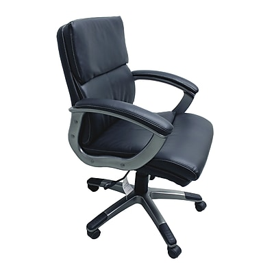 TygerClaw Mid Back Leather Office Chair White (TYFC2209)