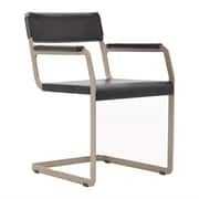 Argo Furniture Horatio Genuine Leather Upholstered Dining Chair; Dark Brown