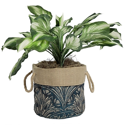 BombayOutdoors Zanzibar Fabric Pot Planter; Royal