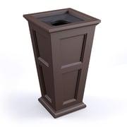Mayne Inc. Fairfield 24 Gallon Manual Plastic Trash Can; Espresso