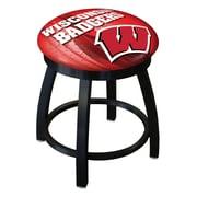 Holland Bar Stool NCAA Swivel Bar Stool; Wisconsin Bucky Badger