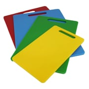 Crucial 4 Piece Plastic Kitchen Cutting Board Set