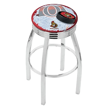 Holland Bar Stool NHL 25'' Swivel Bar Stool w/ Cushion; Ottawa Senators
