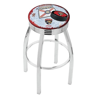 Holland Bar Stool NHL 25'' Swivel Bar Stool w/ Cushion; Florida Panthers