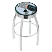 Holland Bar Stool NHL 25'' Swivel Bar Stool w/ Cushion; San Jose Sharks