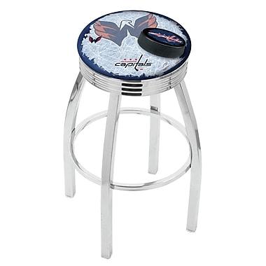 Holland Bar Stool NHL 25'' Swivel Bar Stool w/ Cushion; Washington Capitals