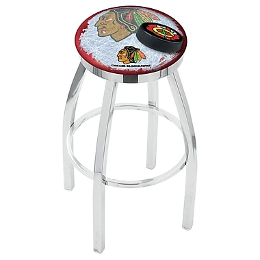 Holland Bar Stool NHL Swivel Bar Stool w/ Cushion; Chicago Blackhawks - Red