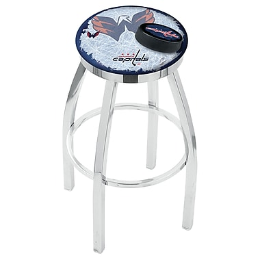 Holland Bar Stool NHL Swivel Bar Stool w/ Cushion; Washington Capitals
