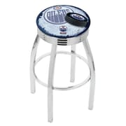 Holland Bar Stool NHL 25'' Swivel Bar Stool w/ Cushion; Edmonton Oilers