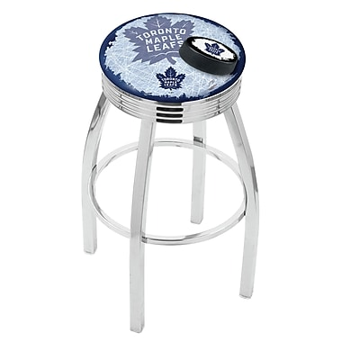 Holland Bar Stool NHL 25'' Swivel Bar Stool w/ Cushion; Toronto Maple Leafs
