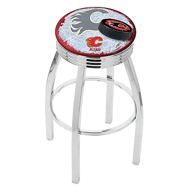 Holland Bar Stool NHL 25'' Swivel Bar Stool w/ Cushion; Calgary Flames