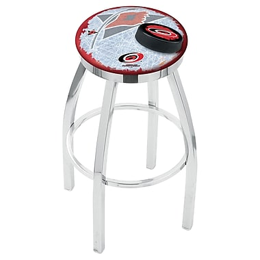 Holland Bar Stool NHL 25'' Swivel Bar Stool w/ Cushion; Carolina Hurricanes