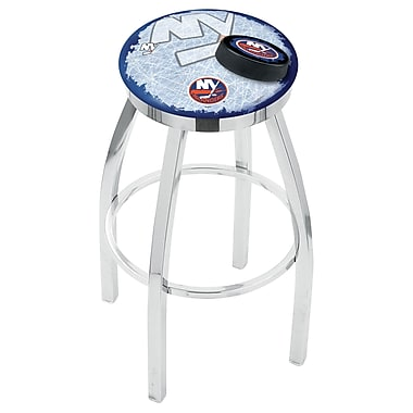Holland Bar Stool NHL 25'' Swivel Bar Stool w/ Cushion; New York Islanders