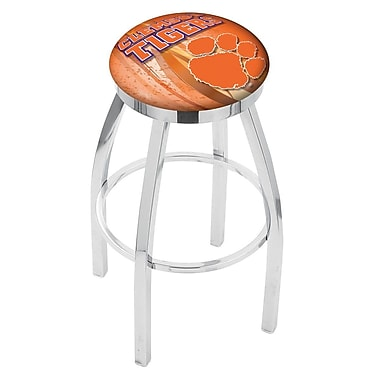 Holland Bar Stool NCAA 25'' Swivel Bar Stool w/ Cushion; Clemson Tigers