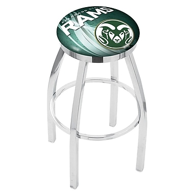 Holland Bar Stool NCAA 25'' Swivel Bar Stool w/ Cushion; Colorado State Rams